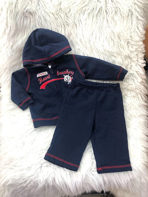 'Just One You' *Doggy* Navy Blue 2pc Set  6 MONTHS