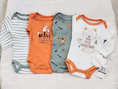 NB| 'Koala Baby' *fox * 4pc Onesie Set NWT