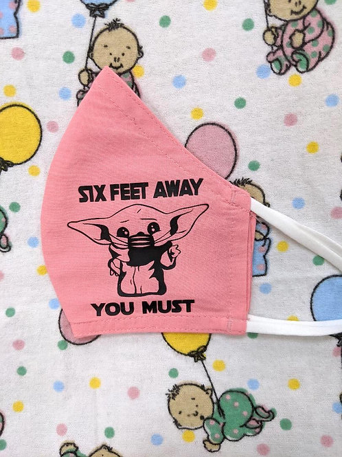 'Six Feet Away. You Must'| Customized Face Mask| KIDS