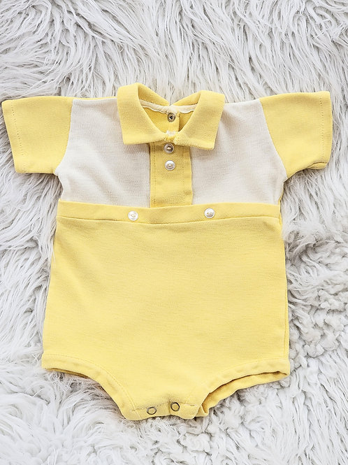 VINTAGE Yellow Romper| 3-6 MONTHS