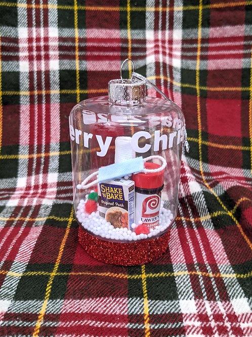 OOAK 'Merry Christmas 2020'| Handmade Ornament 'MINI BRANDS' #10
