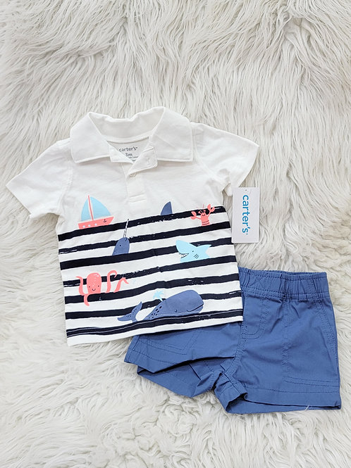 'Carters' *ocean life* 2pc Set NWT| 3 MONTHS