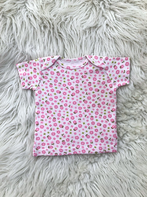 'Carters' Pink Floral Top| 0-6 MONTHS