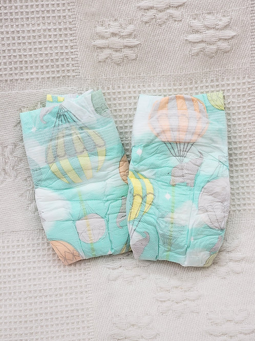 Size 1| Honest Diapers 🐘 hot-air ballon| Set of 2