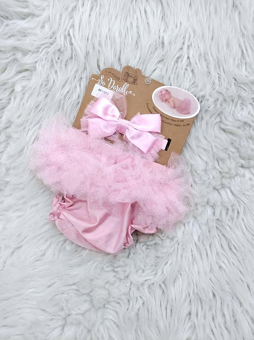 Pink Bloomers and Headband Set