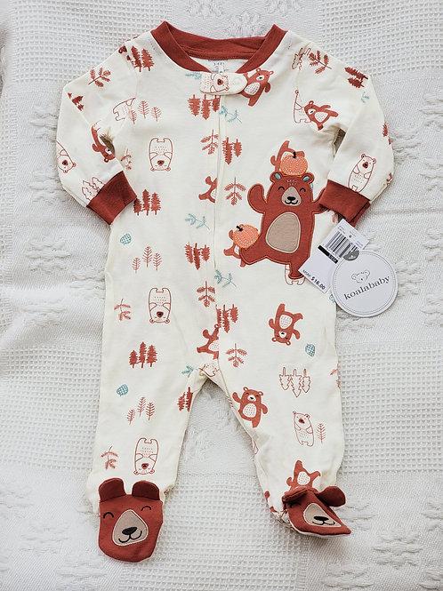 3-6 MONTHS| 'Koala Baby' *bear pumpkin* 🐻🍂Sleeper NWT