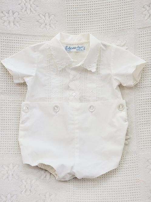 0-3 MONTHS| VINTAGE 'A Little Angel' 👼 White Romper