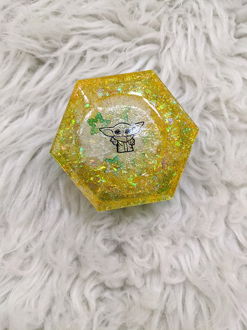 'The Child'| Yellow & Green Handmade Trinket Box