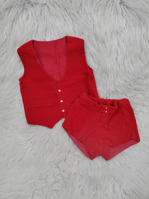Red Vest and Shorts| 3-6 MONTHS
