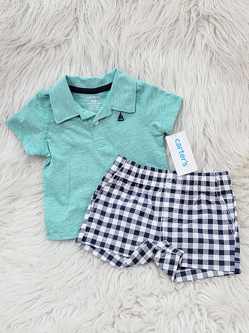 'Carters' *sailboat* 2pc Set NWT  3 MONTHS