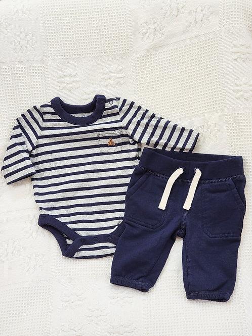 0-3 MONTHS| 'Baby Gap' Longsleeve Onesie & Pants