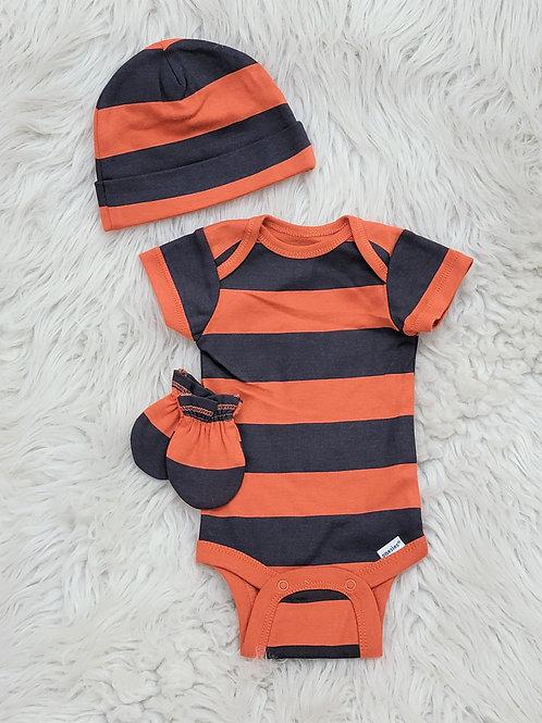 'Gerber' *orange + gray* Onesie NWOT | NB
