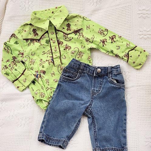 6 MONTHS| 'Wrangler' *Dress Top* & Levi's Pants