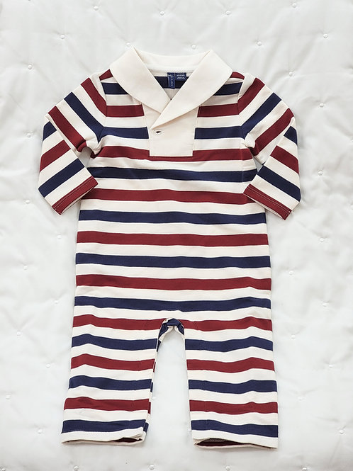 6-12 MONTHS| 'Janie and Jack' Stripped Romper NWOT