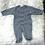 Thumbnail: 'Kissy Kissy' Navy Blue Stripped Sleeper NWOT  3 MONTHS