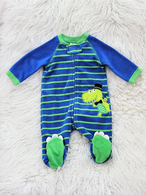 'Little Me' *alligator* Fleece Sleeper| 3 MONTHS