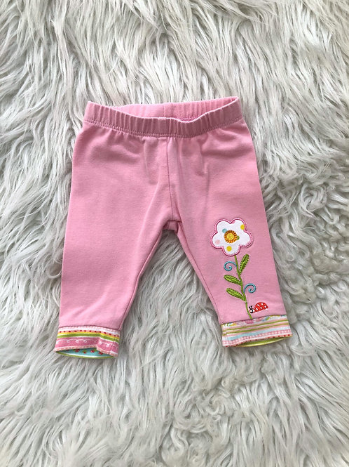 'Happi by Dena' Pink Pants w/Flower  0-3 MONTHS