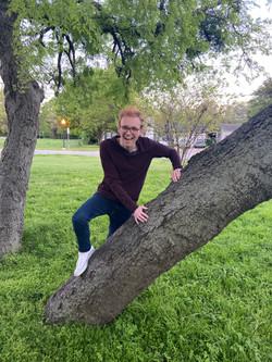 Tree climbing fail