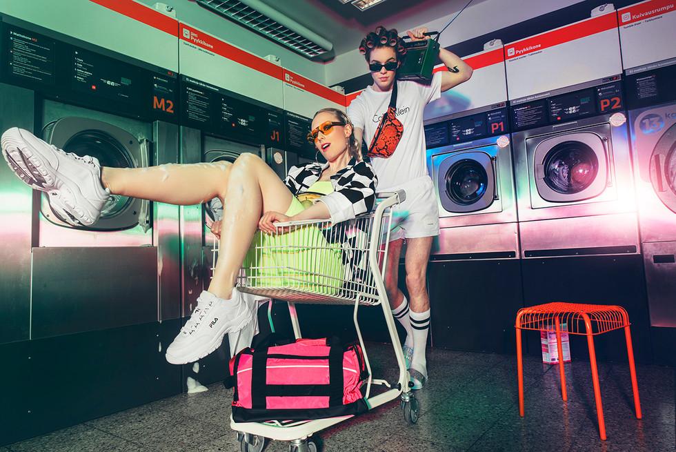 Kauppakeskus mylly Alex Aalto Modelpoint models Mirka ja Lari