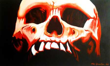 Burning with the pain of anguish skull.j