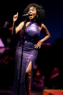 Demetria Purple Dress