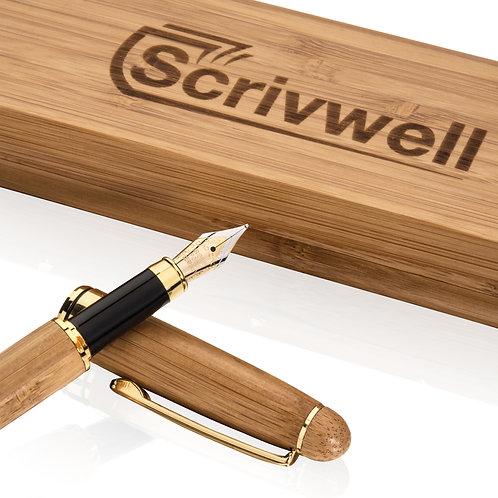 Scrivwell Classic Executive Fountain Pen with Writing Set Case