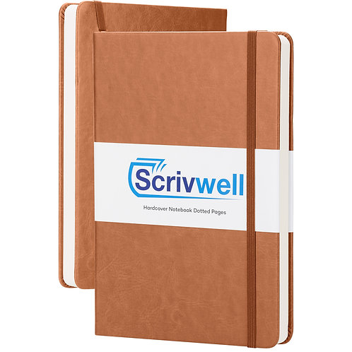Scrivwell Brown Hardcover Notebook
