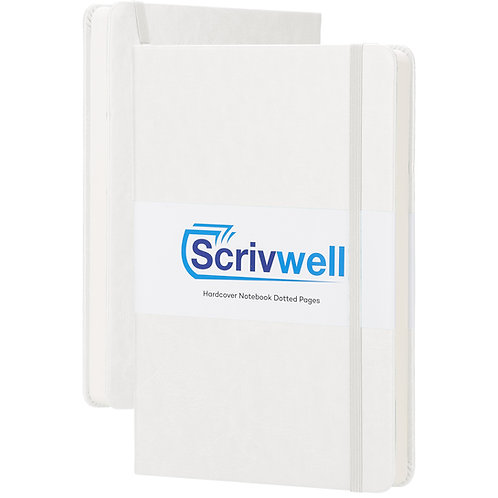 Scrivwell White Hardcover Dotted Notebook