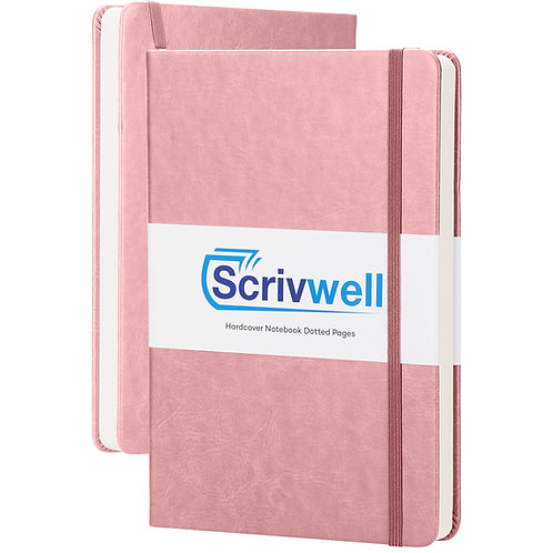 Scrivwell Pink Hardcover Notebook