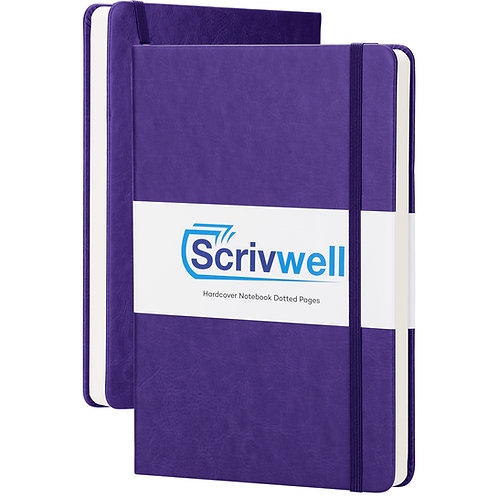 Scrivwell Purple Hardcover Dotted Notebook