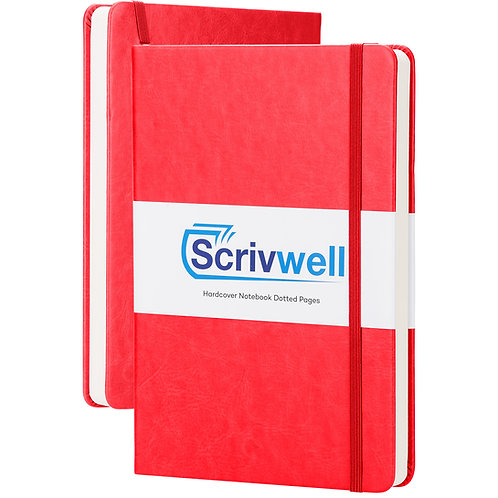 Scrivwell Red Hardcover Dotted Notebook
