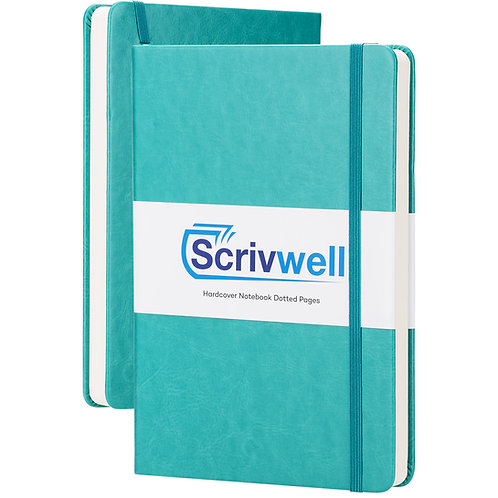 Scrivwell Teal Hardcover Dotted Notebook