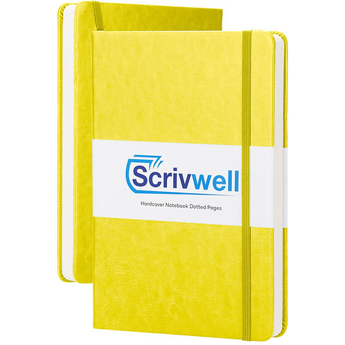 Yellow Scrivwell Dotted Notebook