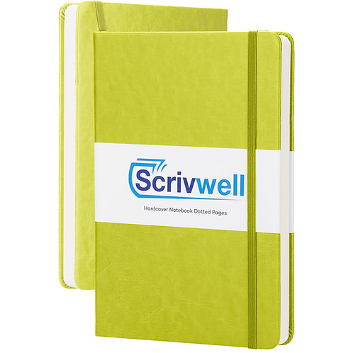 Green Scrivwell Hardcover Dotted Notebook