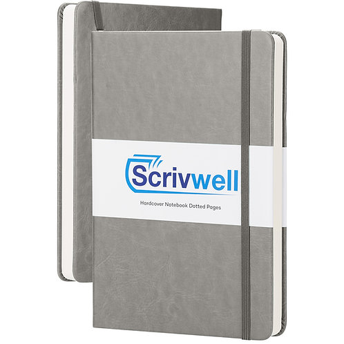 Scrivwell Grey Hardcover Dotted Notebook