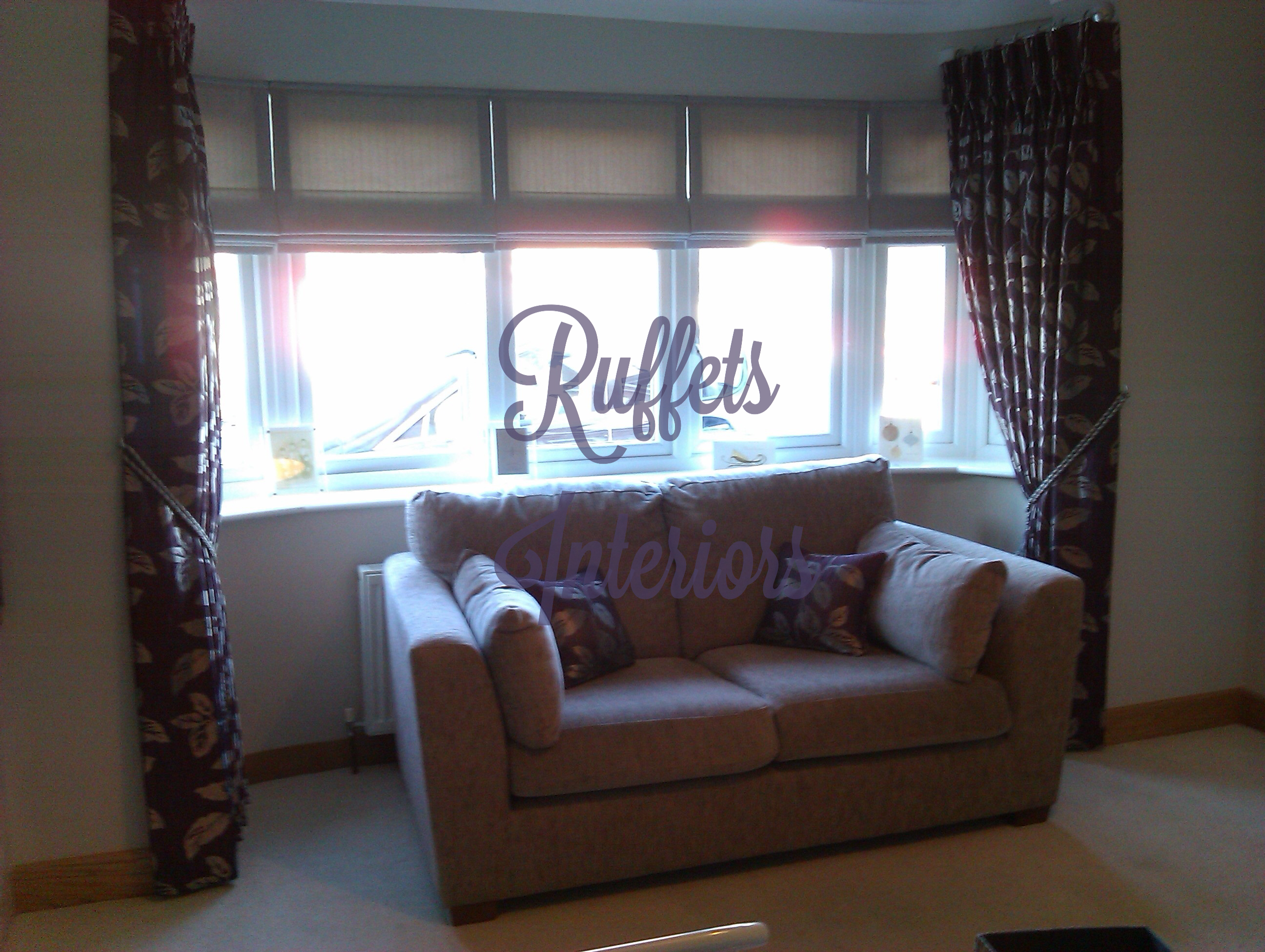 Roman Blinds & dress curtains.
