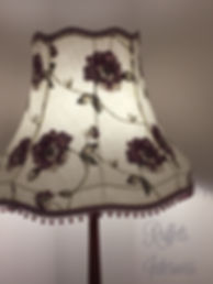 large scalloped empire lampshade with bead trim and braid