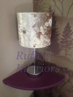 crushed velver fabric drum lampshade