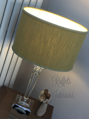 oval lampshade with braid trim