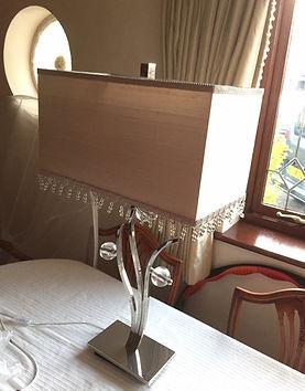 rectangular lampshade with bead trim