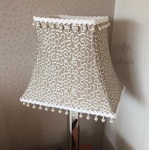 Beaded rectangular empire lampshade