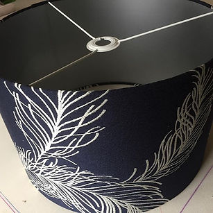 45cm drum lampshade with silver lining