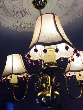 mini scallop lampshades