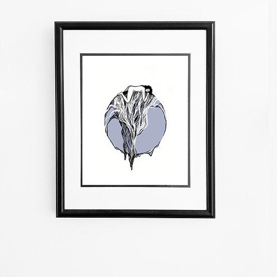 Blue Moon Lady Print