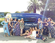 hens party in front of bluey the bus fav