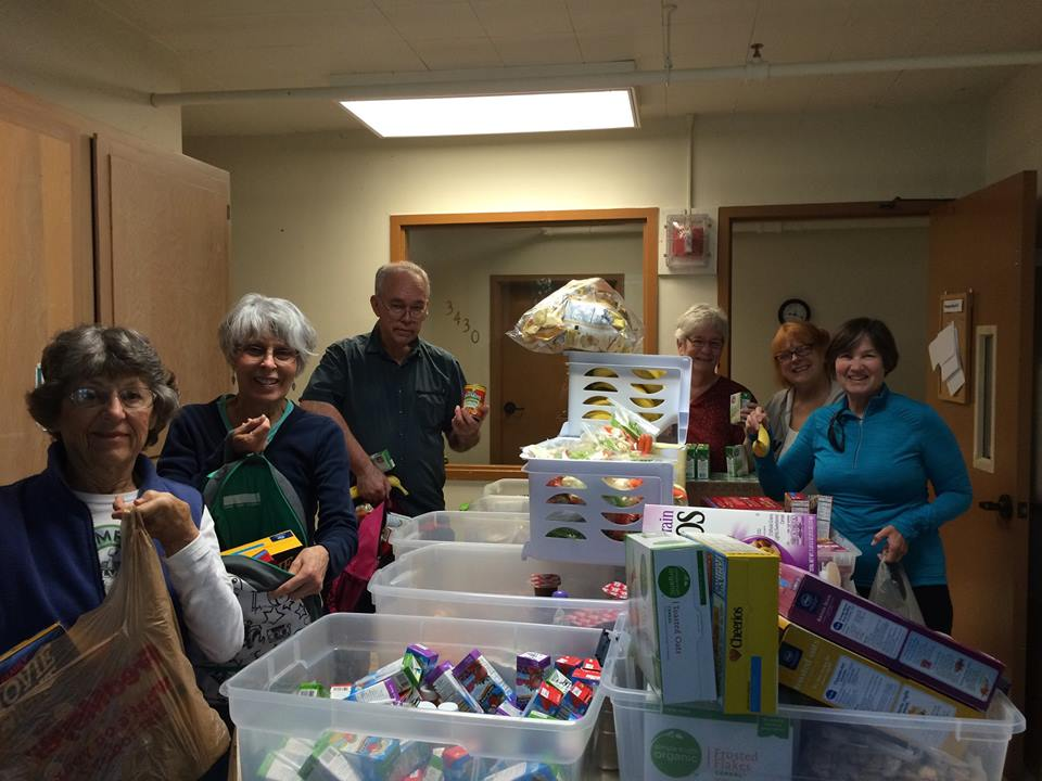 volunteers in Pantry