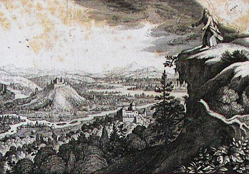 Moses goes to the mountain of Nebo
