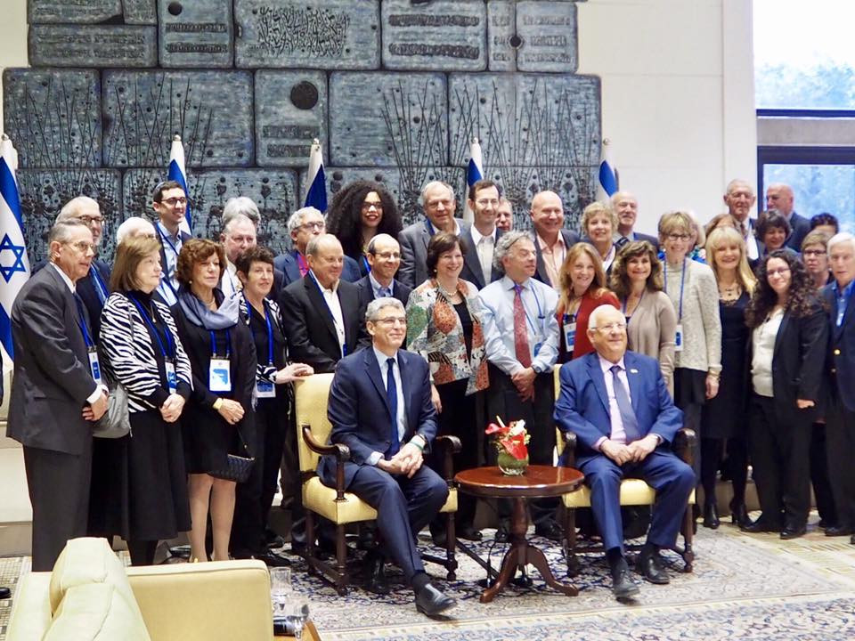 The URJ Leadership Delegation with President Reuven Rivlin