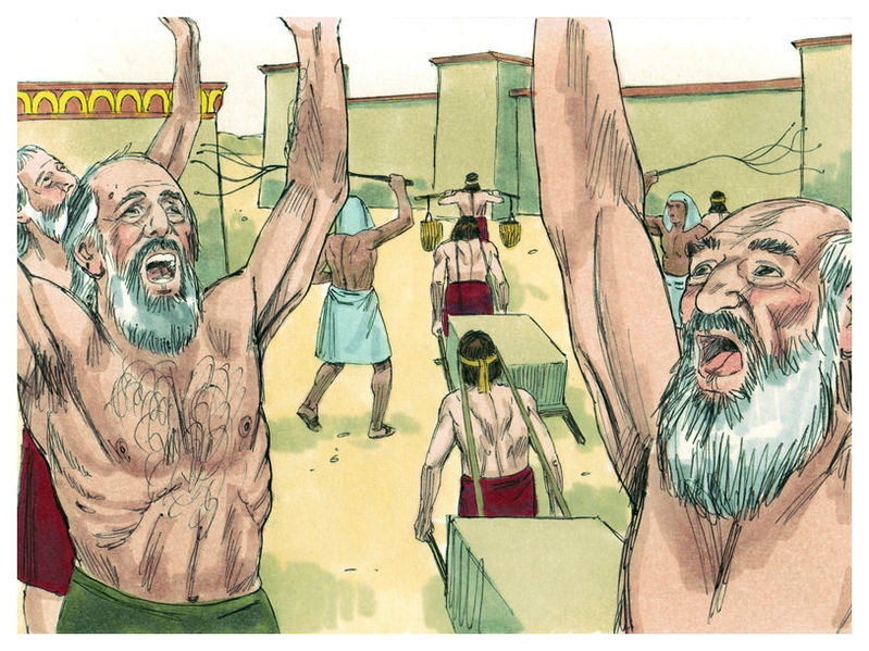 the sons of Israel sighed because of the bondage, and they cried out