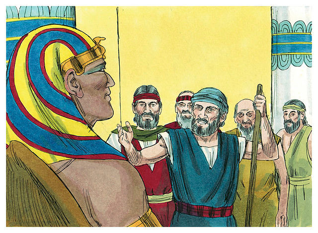 "Moses to Pharaoh ""Let my People go"""